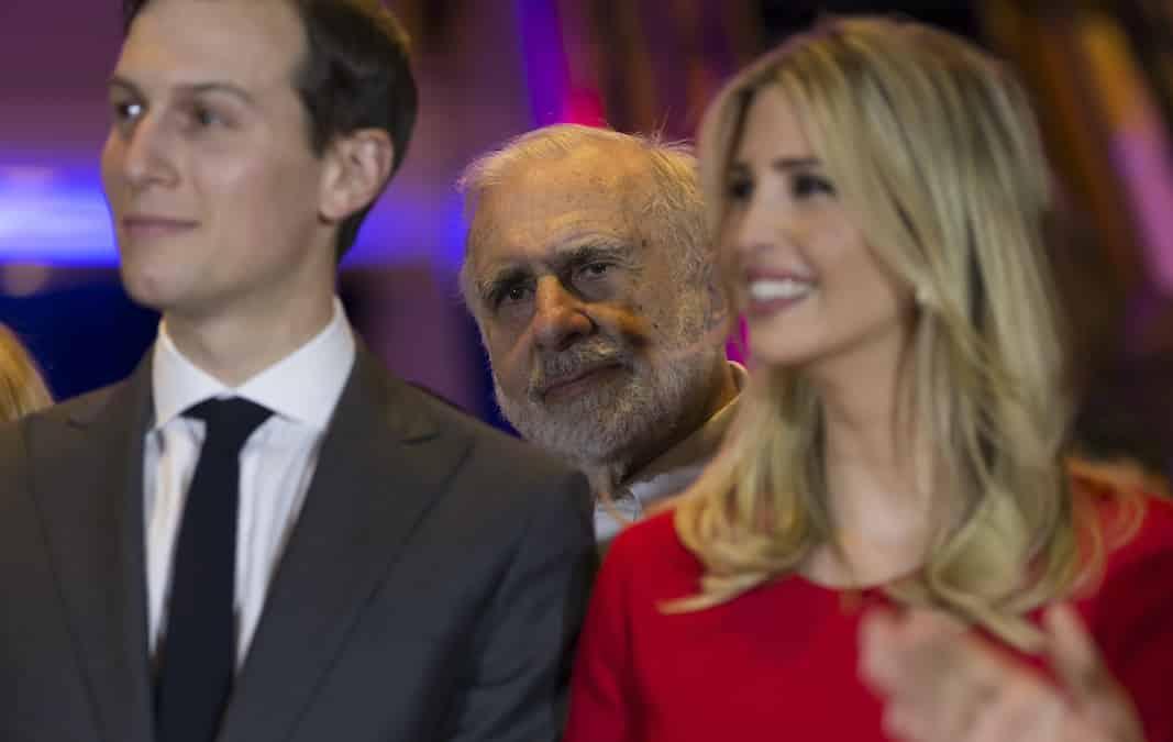 Carl Icahn, detrás de Ivanka Trump, en una imagen de archivo. FOTOGRAFÍA: LEV RADIN
