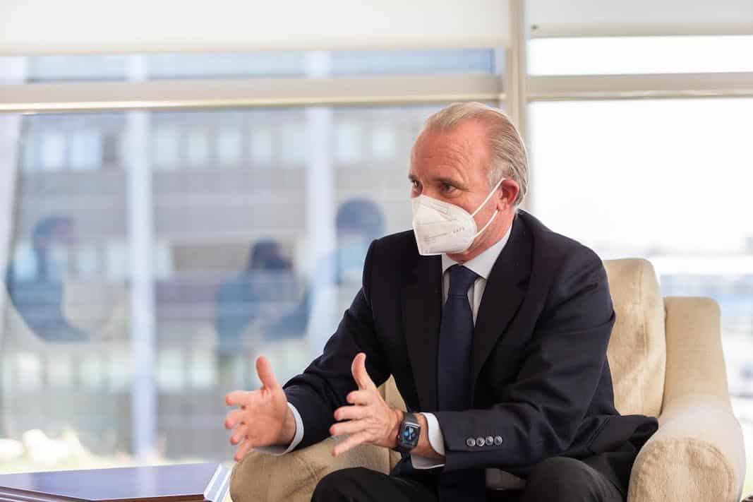 Polo Satrústegui, director general de Hyundai, durante la entrevista con Fleet People. FOTOGRAFÍA: DANIEL SANTAMARÍA ©FLEET PEOPLE