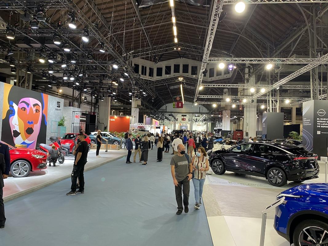 El interior de Automobile Barcelona, ayer.